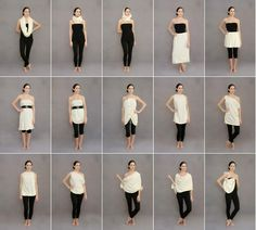 15 ways to wear one piece by Revolution Apparel. I can't/won't wear this, but this is a great example of a sustainable company that is changing fashion.