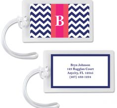 Free printable monogrammed  luggage tag/calling cards All you have to do is choose color (4 choices), type in info info and print.  This is perfect for little gifts for holidays.