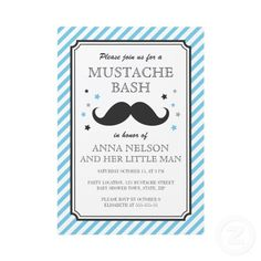 Clever baby shower concept for a boy. Bet mustaches would make a great theme!