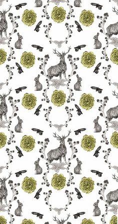 Flora & Fauna #pattern #patternplay #color #fun #unique #wallpaper #decor