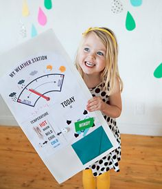 Perfect for a rainy day craft - My Weather Station! #preschool #kidscrafts #efl (repinned by Super Simple Songs)