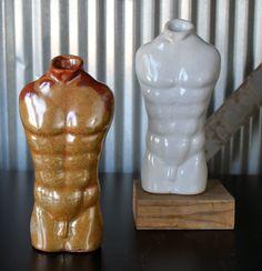 Torso - Jon Loer 2013 - slip cast with carbon trap shino and white shino reduction glaze