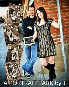 I like the idea of the chalkboard, but for a wedding picture