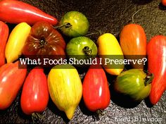 NW Edible's recommendations for what to preserve