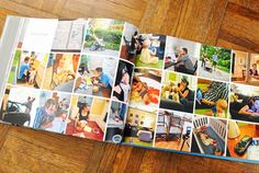 """Annual Family """"Yearbook"""" -- nice alternative to the photo albums my parents have stacked up in their basement; may have to actually get my act together one of these days and make one..."""