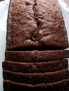 Crunchy Creamy Sweet: Triple Chocolate Quick Bread.... My daughter I am just baked this..... WOW!