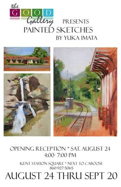 "Yuka Imata. ""Painted Sketches Exhibition"" Aug 24-Sep. 20, 2013. The Good Gallery. Kent, CT"