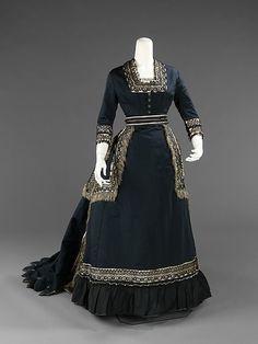 Half-mourning dress    1872-1874    The Metropolitan Museum of Art