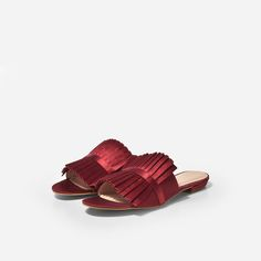 Rosa Red Satin Slide