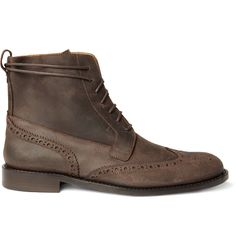 BILLY REID  OILED SUEDE WINGTIP BROGUE BOOTS