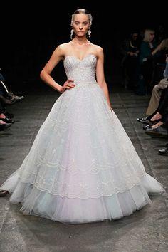 Ice Blue Winter Wedding Bridal Gown