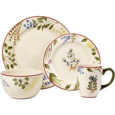 Pfaltzgraff Studio Herbal Garden 16-Piece Dinnerware Set