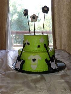 ROCKIN' BABY SHOWER CAKE