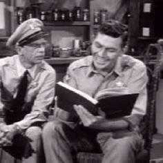 Andy Griffith and Barney Fife