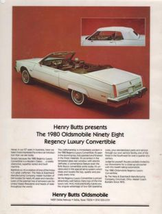1980 Oldsmobile Ninety-Eight Regency Luxury Convertible