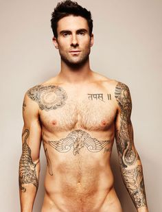 Adam Levine (@Lynda Maas-Young) #tattoos #celebrities