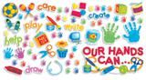 """Checkout the """"Our Hands Can Bulletin Board Set"""" product"""