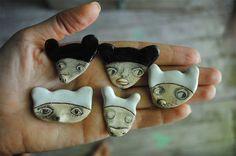 Clay brooches and Denitsa's world at www.ImaginativeBloom.com