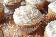 Tres Leches Coconut Cupcakes with Dulce de Leche Buttercream