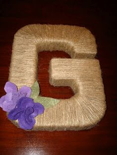 twine letter DIY
