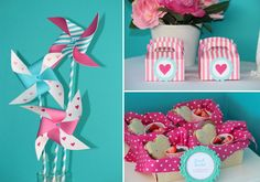 An Adorable Valentine Valentine's day tea party via Kara's Party Ideas karaspartyideas.com #valentine's #valentine #tea #party #pinwheel #ideas