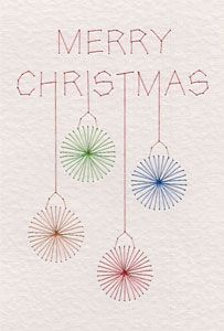 Free Merry Christmas baubles pattern added at PinBroidery | Prick And Stitch Is My Craft