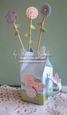 Mini Milk Carton Watering Can