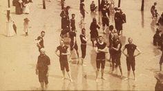 1890: Bathers on the beach - Atlantic City, NJ. beaches, beach photos, rare vintag, vintag beach, vintage, bikinis, 1890 atlant, atlant citi
