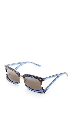 Shop Rectangular Sunglasses With Claw Detail by Prabal Gurung Now Available on Moda Operandi
