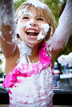 Shaving cream fight - TOTALLY going to do this!