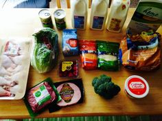 Check out what my sister, Gretchen, got at the grocery store for $55 (click through for all the pictures) and see what her family's weekly menu plan is...