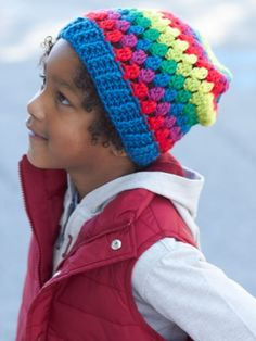 Rainbow Granny Stripes Hat