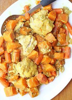 Slow Cooker Sweet Potato and Chicken Curry ~ gluten free! | 5DollarDinners.com