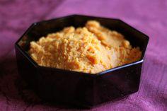 Mashed Sweet Potatoes with Roasted Garlic