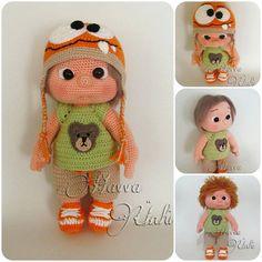 PATTERN  Kid With Monster Hat crochet amigurumi por HavvaDesigns, $12.00