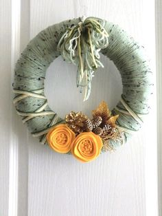 #yarn #wreath