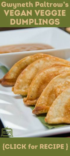 """Want to try out some of these recipes from Gwyneth Paltrow's cookbook, """"It's All Good"""" This is a healthy, vegan recipe for veggie dumplings and dipping sauce! http://www.recapo.com/dr-oz/dr-oz-recipes/dr-oz-gwyneth-paltrow-vegan-veggie-dumplings-its-all-good-review/"""