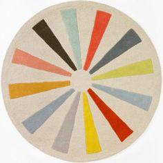 DwellStudio Kids Rug Pinwheel Round