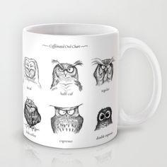 Caffeinated Owls Mug by Dave Mottram - $15.00