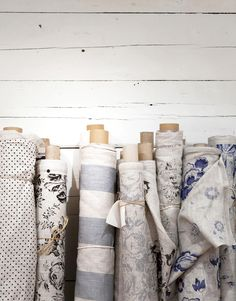 via Rue magazine. What beautiful fabrics. #Livingspace #RawMaterials #print