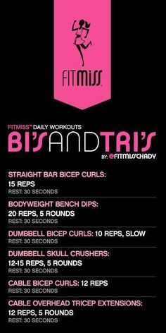 Great bicep and tricep workout