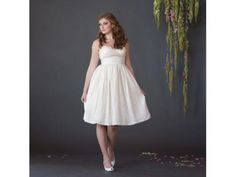 Fair Trade Tea Length Wedding Dress | $600 | Green Bride Guide