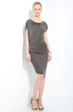 Helmut Lang 'Shale' Drape Jersey Dress available at Nordstrom