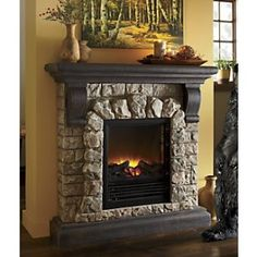 I'm going to make rhis fireplace for the wall on small bldg between windows for the ceremony. Barnwood mantel, foam and cement rocks and painted tin insert.. .
