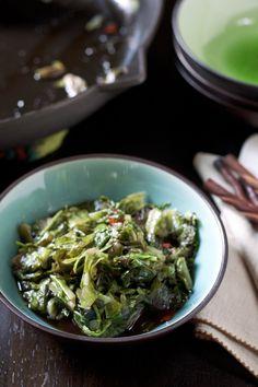 ginger + chili stir fried lettuce via Local Kitchen