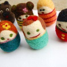 egg peopl, eggs, felt wool, toy feltedwool, wool egg