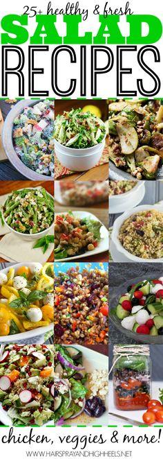 25 Healthy & Fresh Salad Recipes
