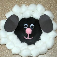 Sheep easy craft for preschool