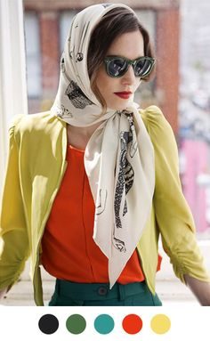 scarves can make a look.