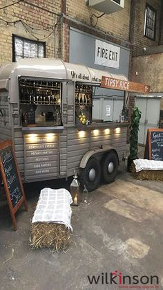 Converted horsebox bar